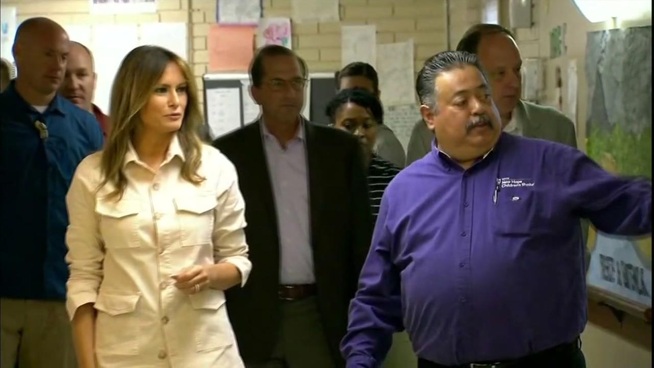 First lady Melania Trumps surprise visit to border region