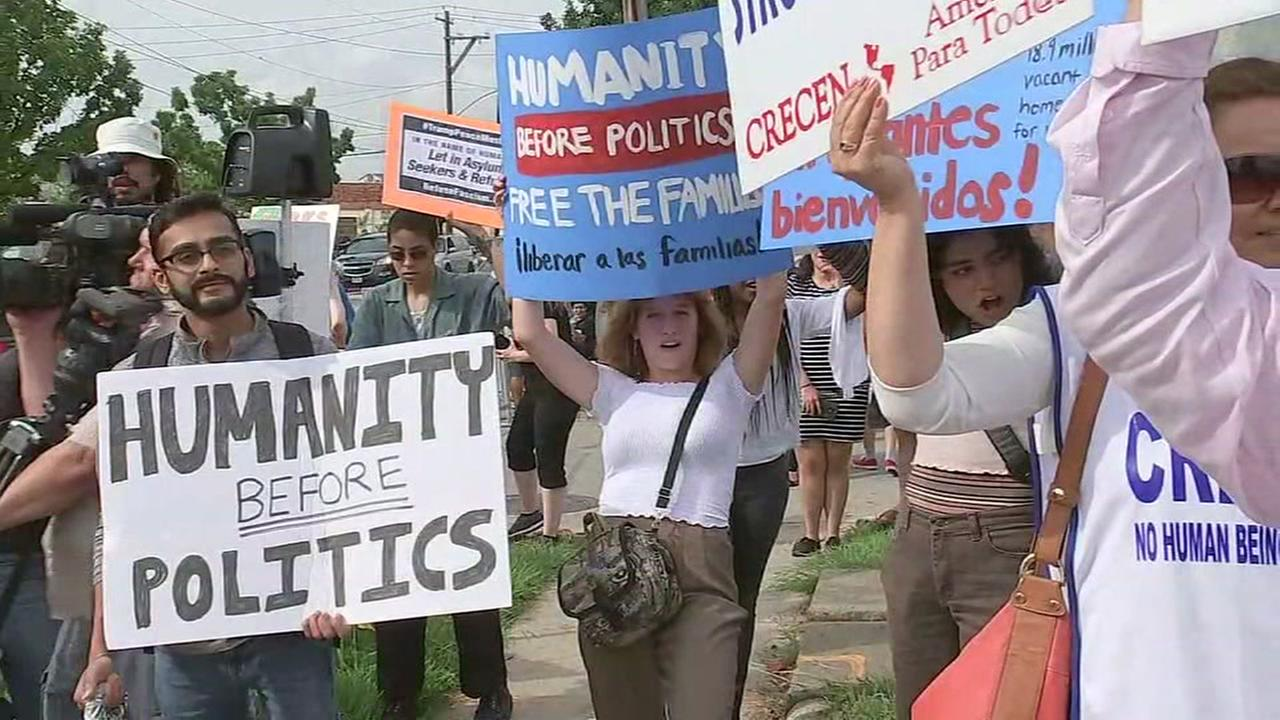 Protest targets proposed Houston immigration detention center