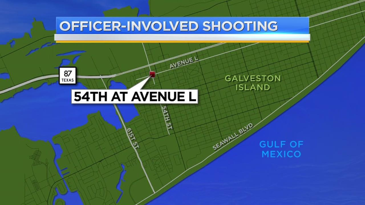 Officer-involved shooting in Galveston