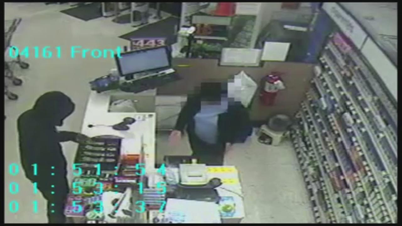 Drug store robbery suspect sought