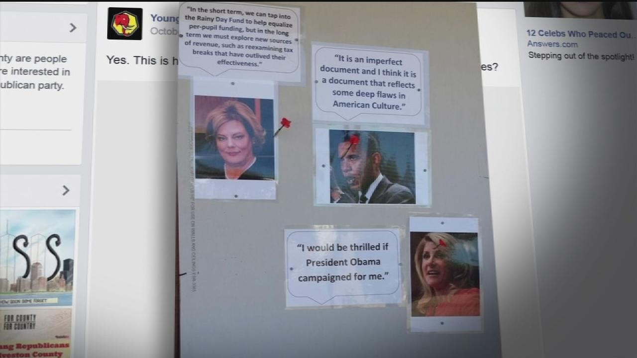 Political dartboards raise eyebrows in Galveston