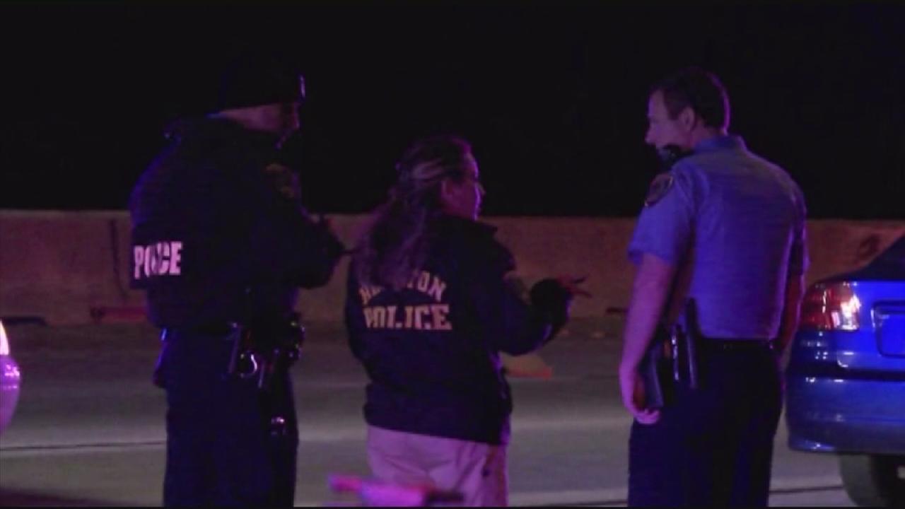 Woman hit, killed on freeway