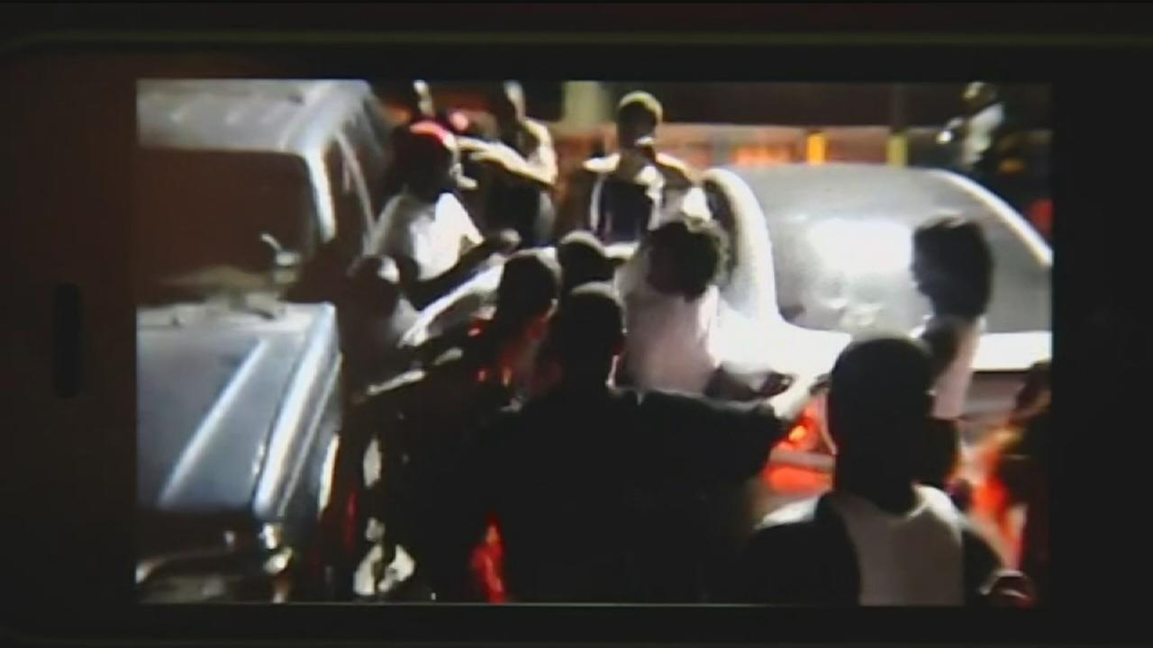 Massive club brawl caught on camera