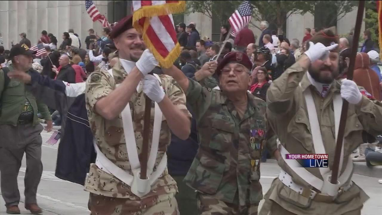 Houstonians mark Veterans Day with parades, freebies