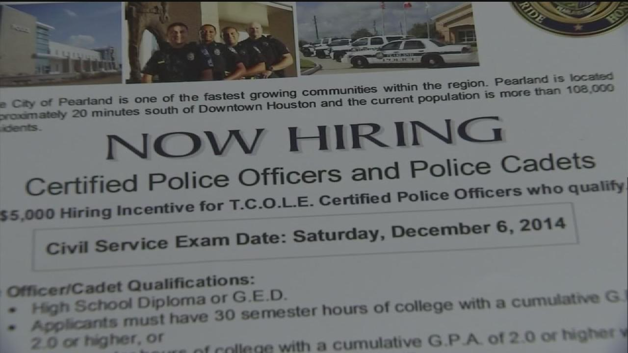 Pearland Police Department growing, hiring officers