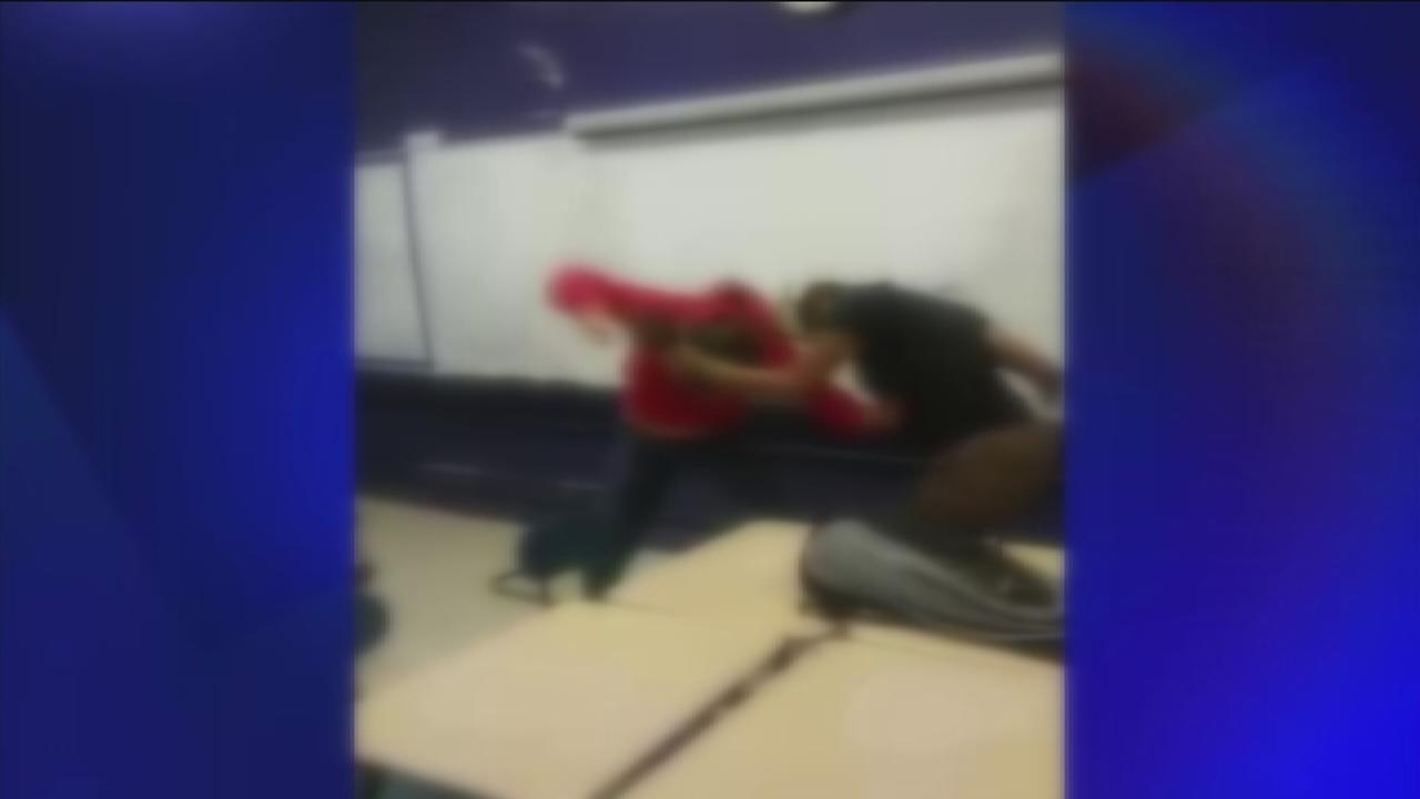 Classroom fight caught on camera