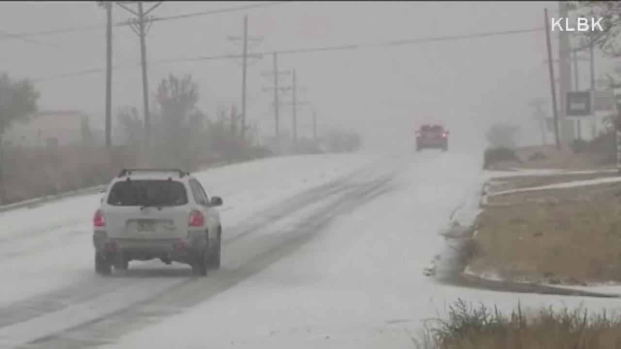 Winter weather brings snow to Lubbock