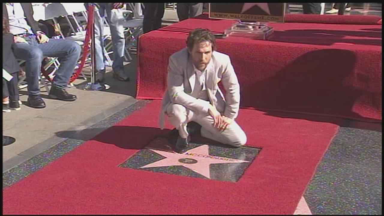 Matthew McConaughey gets Walk of Fame star