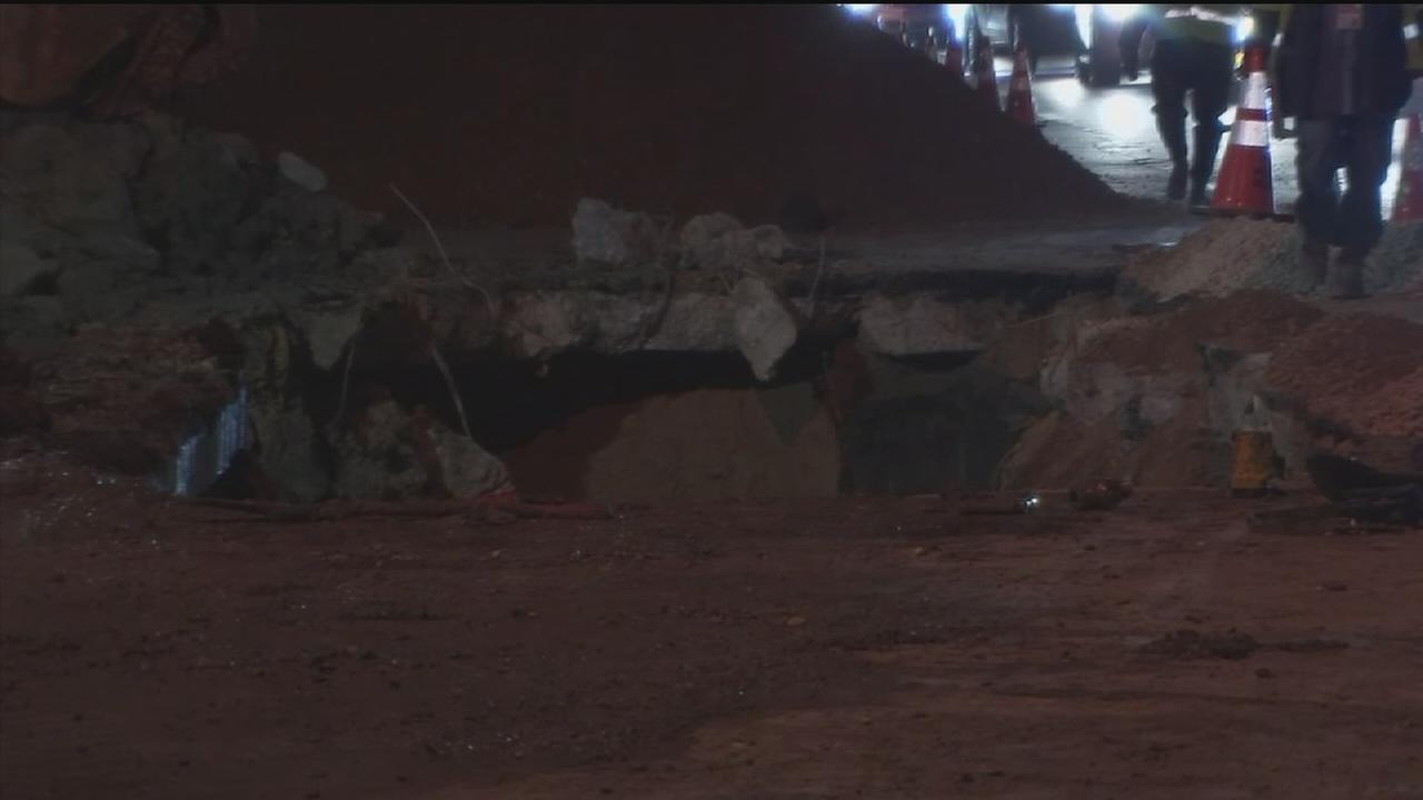 Massive water main break causes mess near Galleria