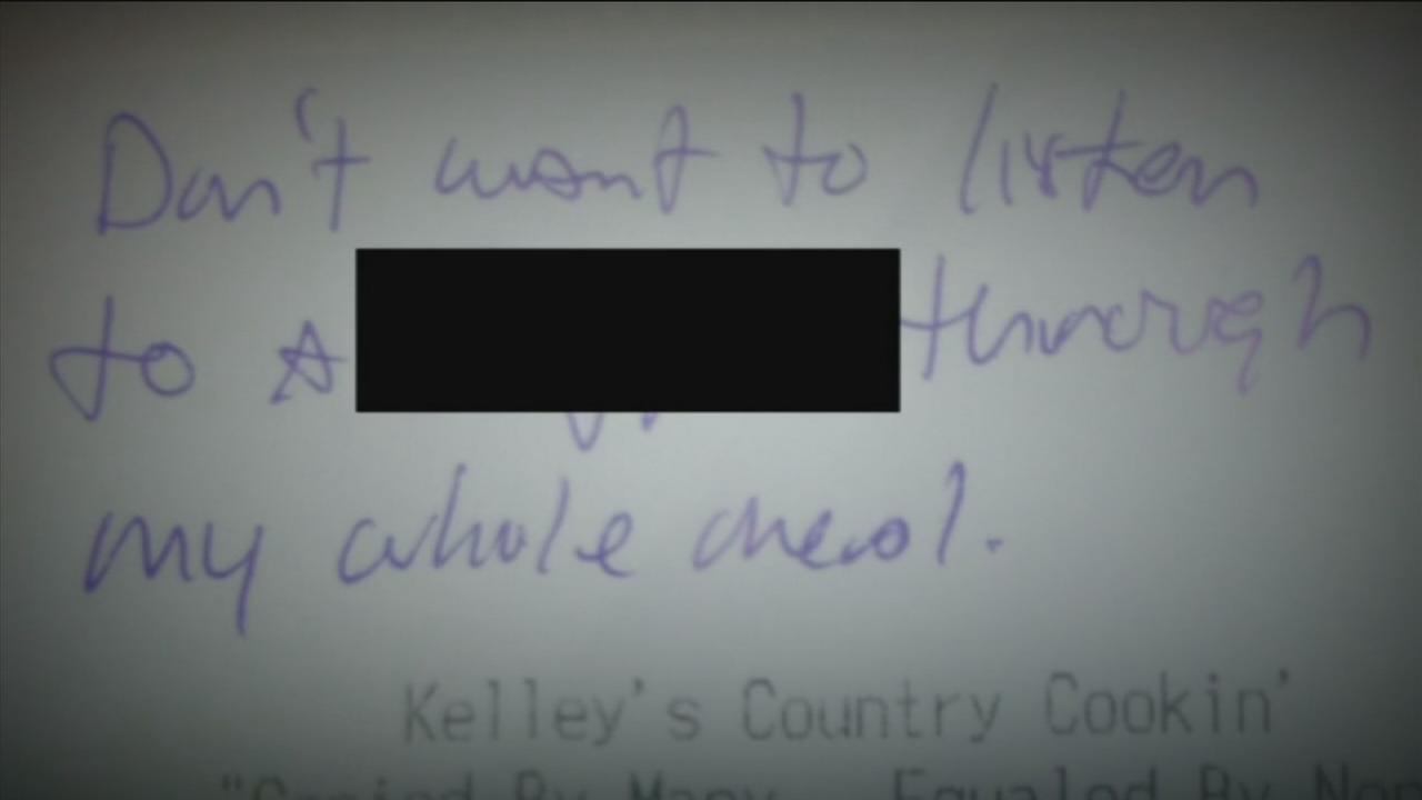 Gay slur written on restaurant receipt