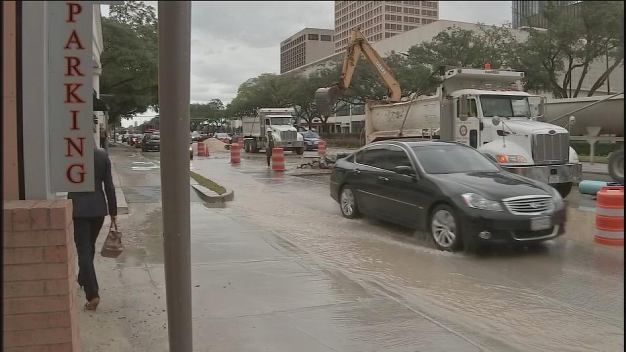 Water line repair causes more disruptions near Galleria