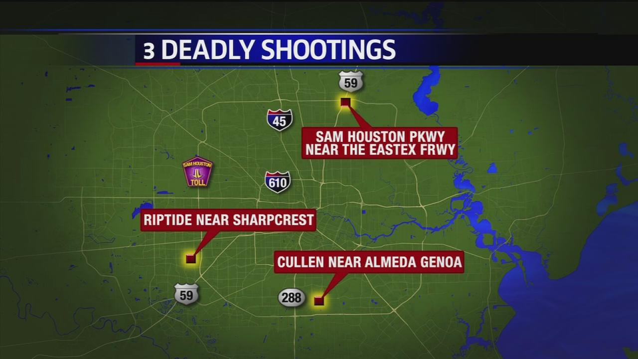 3 deadly shootings in Houston area