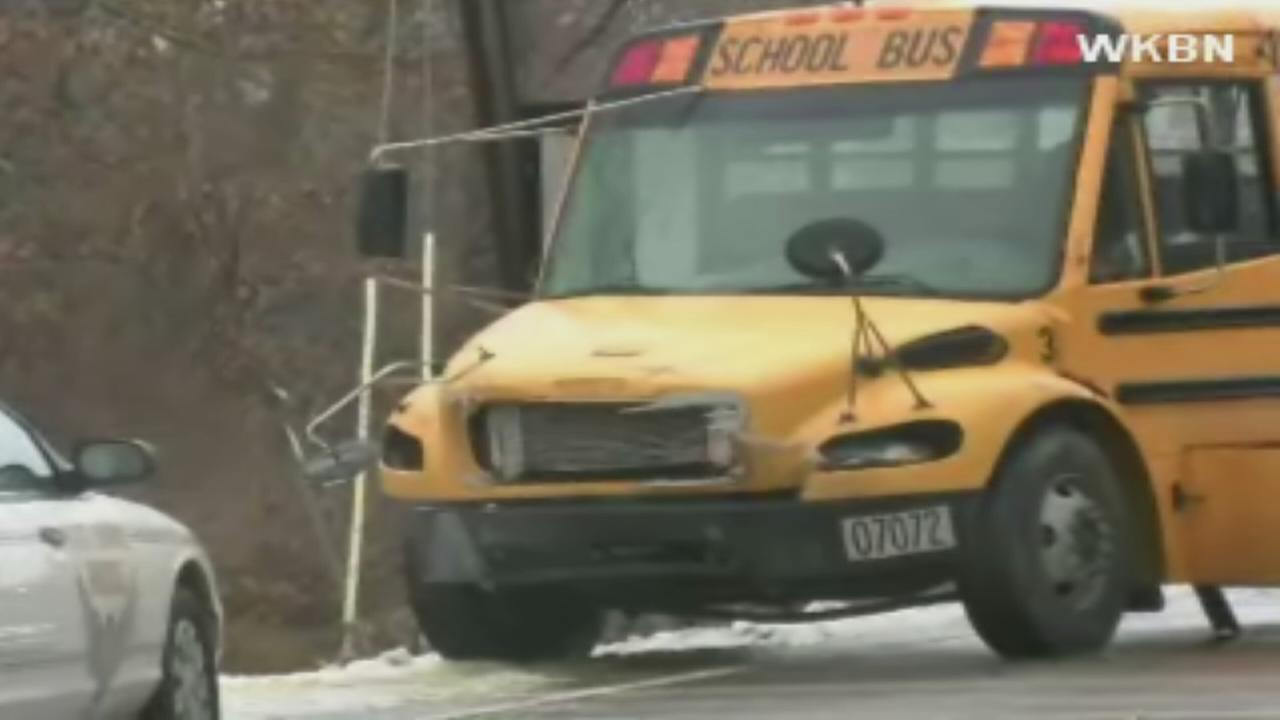 Three teens die in school bus wreck