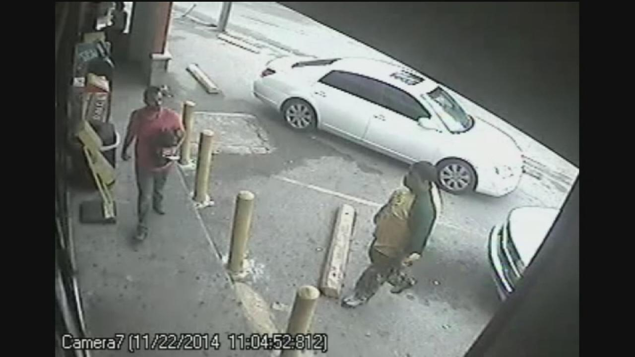 Surveillance video shows fast theft