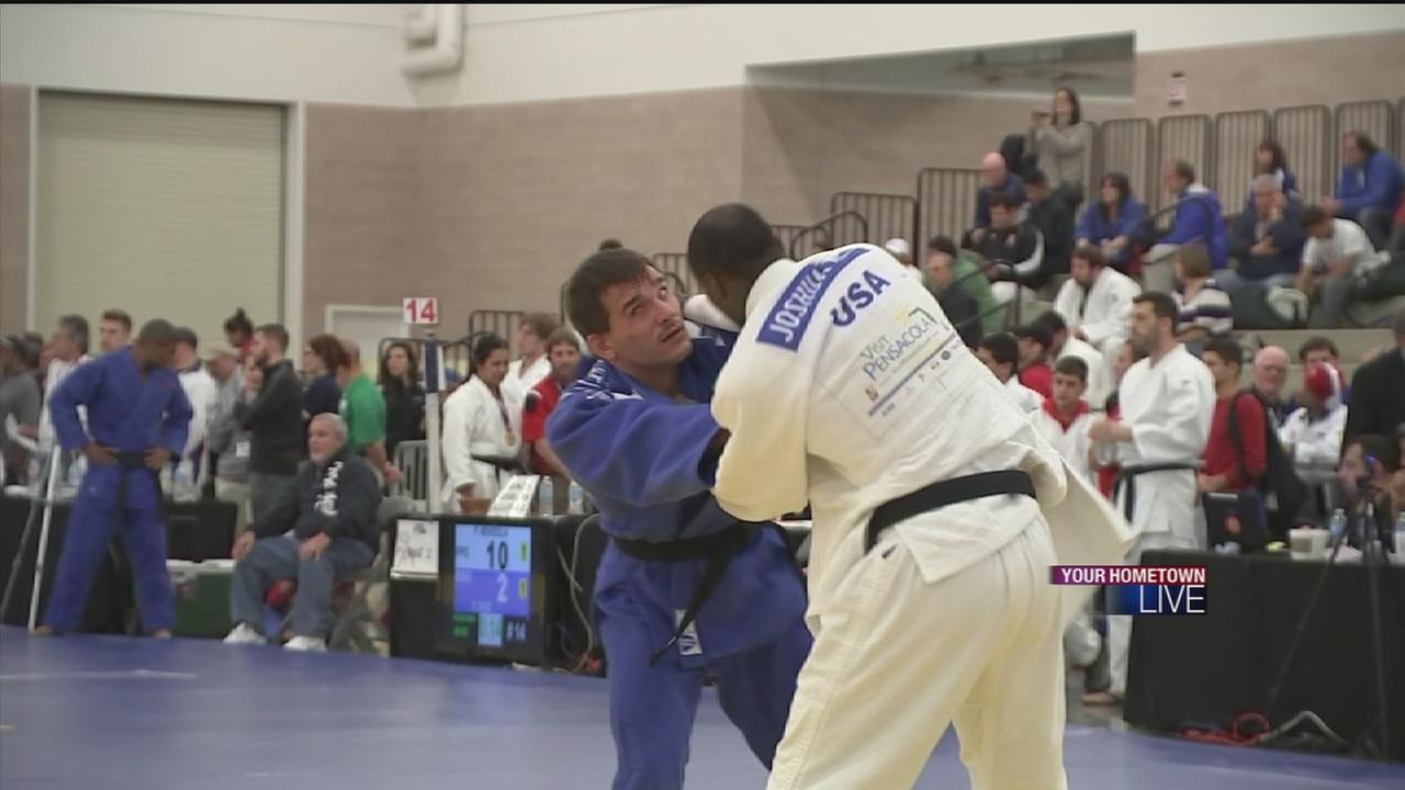Blind man shines on Judo mat