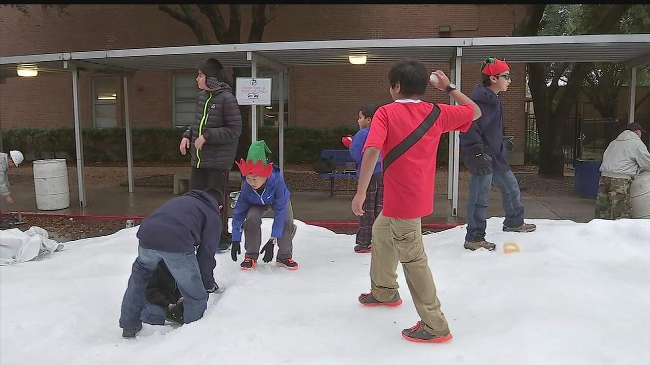 Snow day for special students