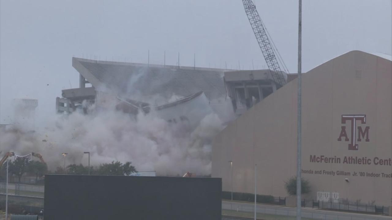 Portion of Kyle Field comes crashing down