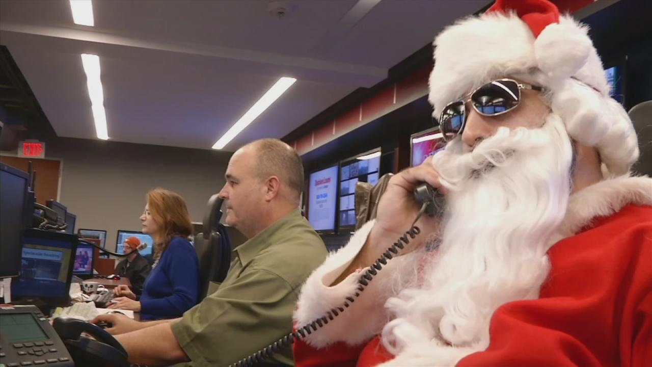 Santa on the job at ABC-13