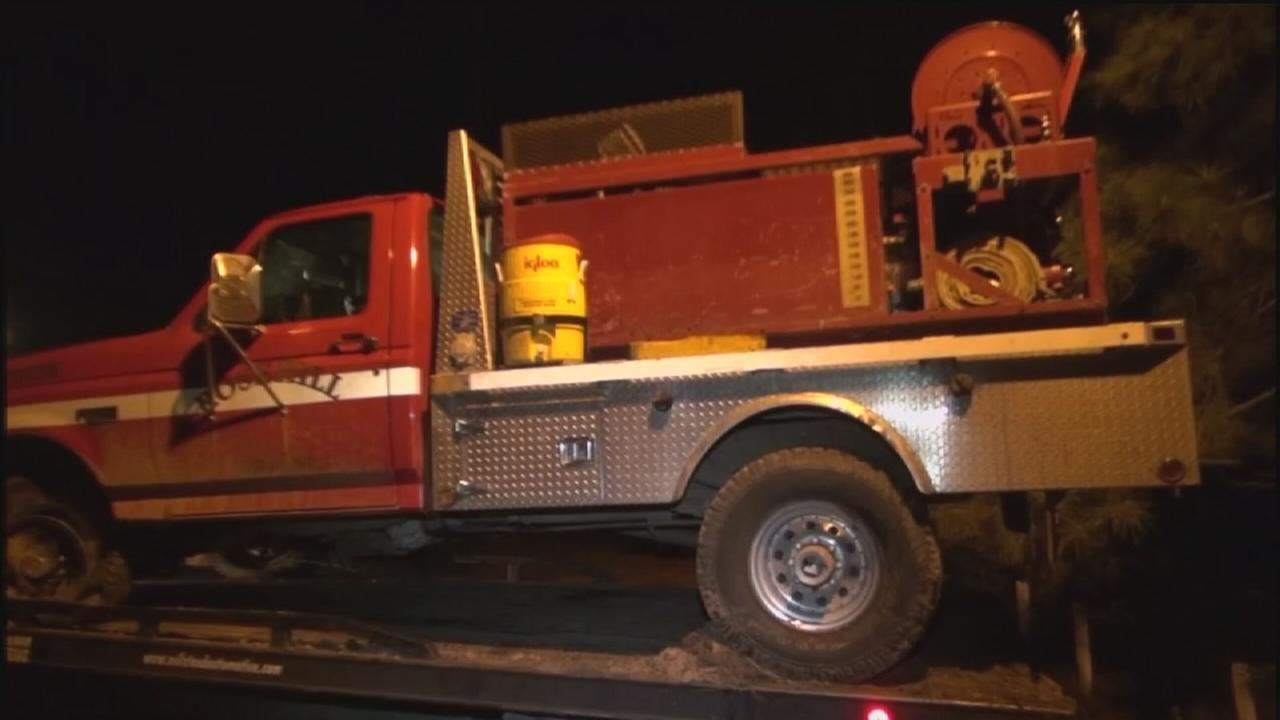 Stolen fire truck found