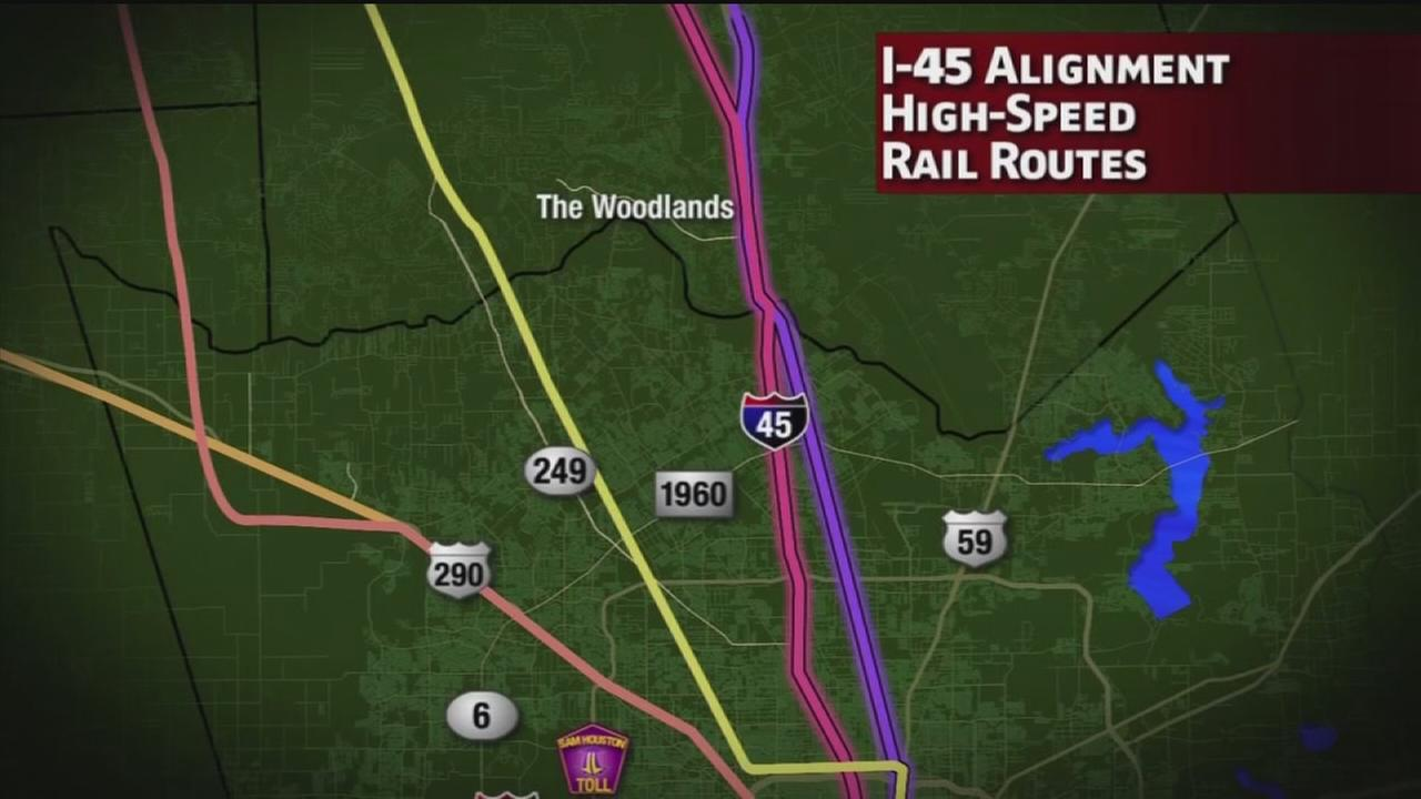 The Woodlands pushes to get high speed rail route