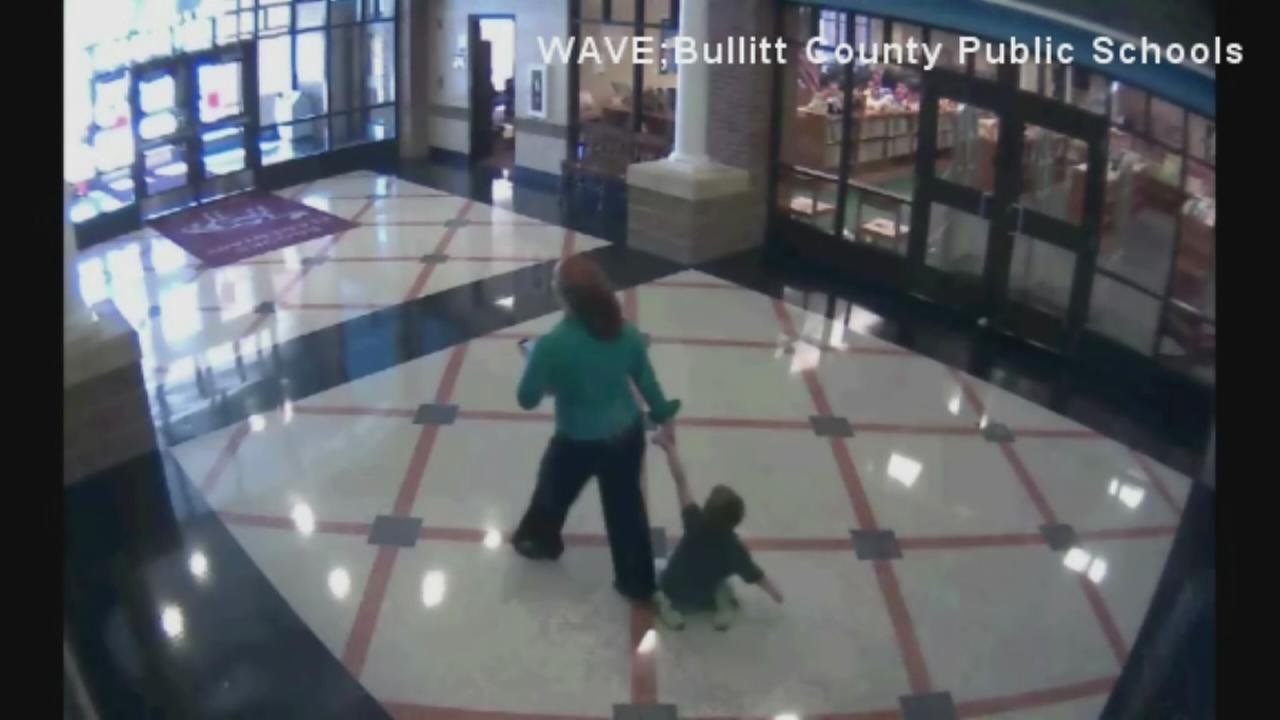 Teacher drags first grader through halls