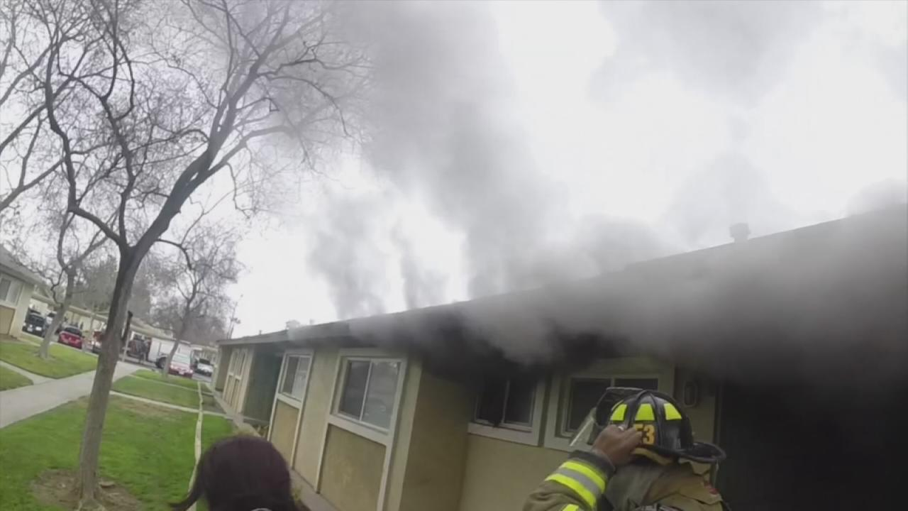 Amazing rescue from firefighters perspective