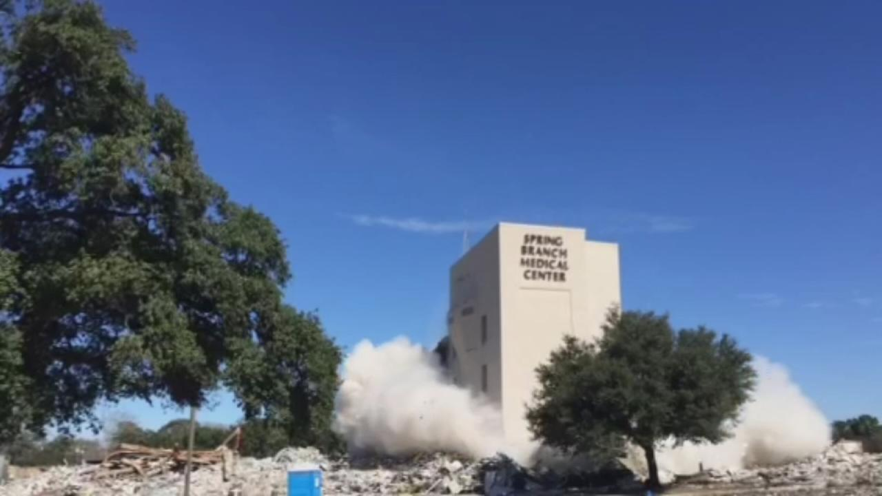 Implosion of Spring Branch Medical Center