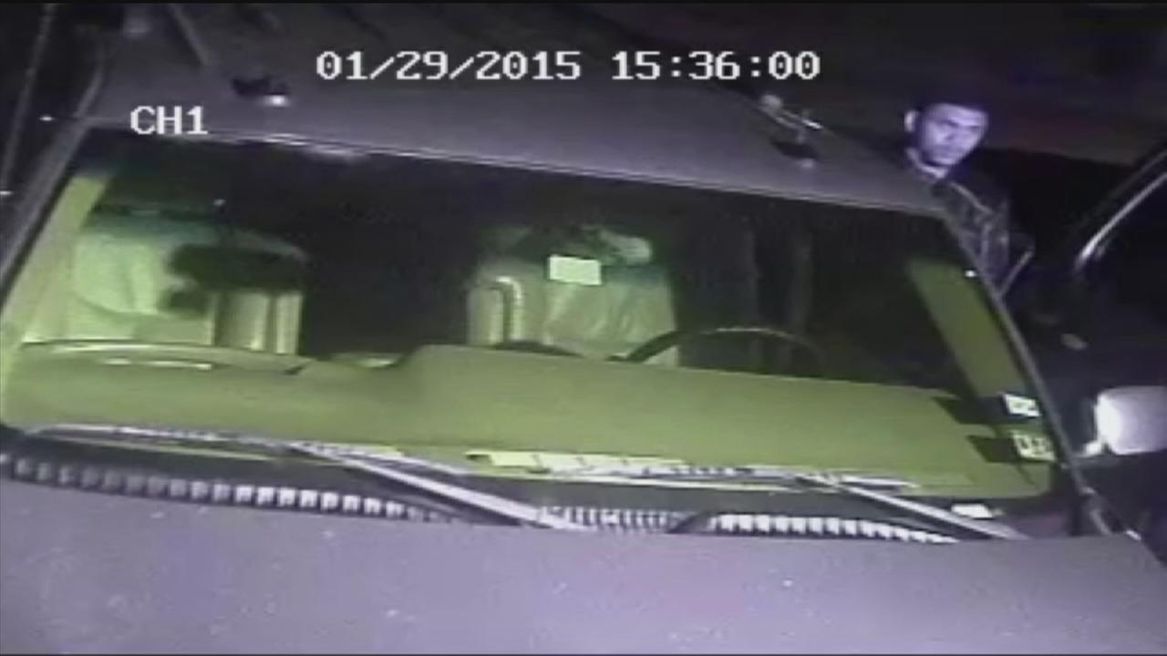 Car bruglar caught on camera