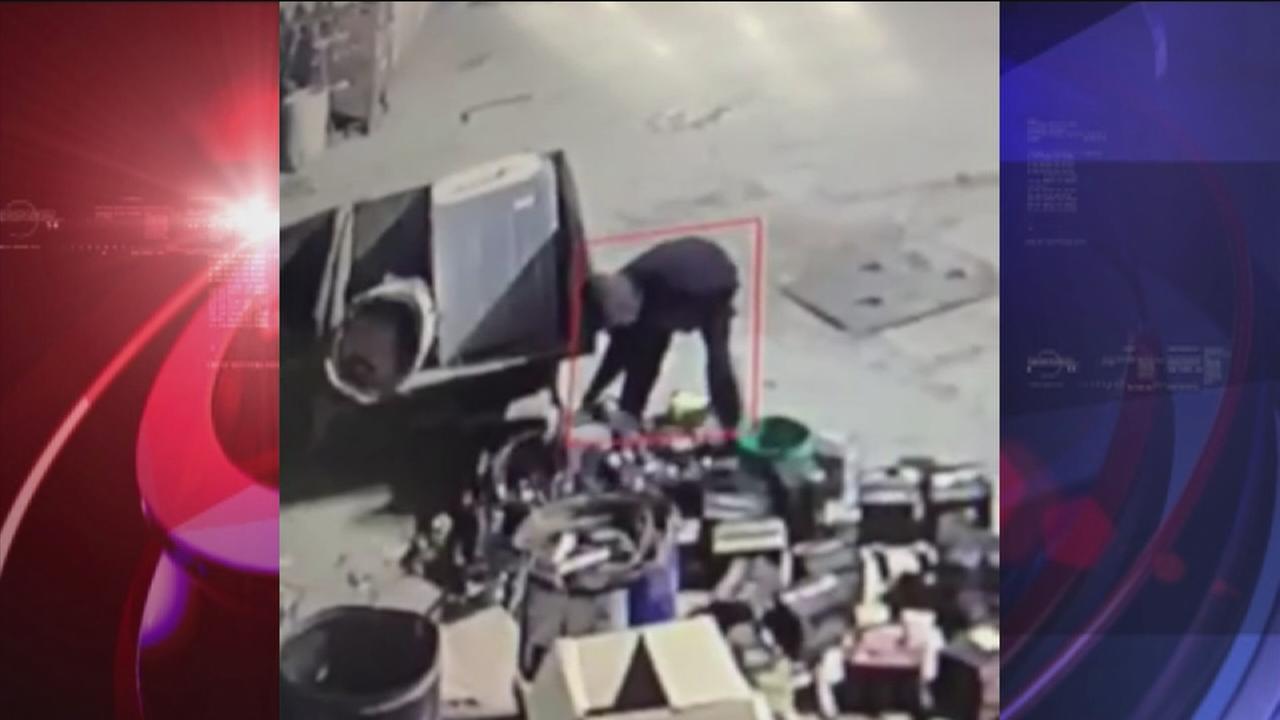 Burglar steals scrap metal