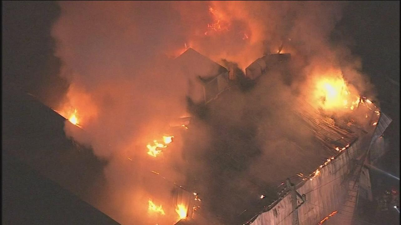 Massive fire burns at Islamic center