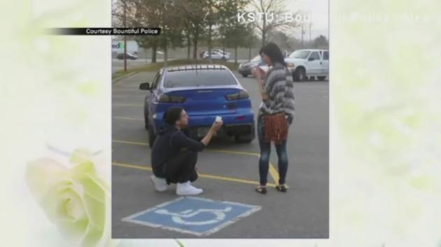Traffic stop proposal caught on camera