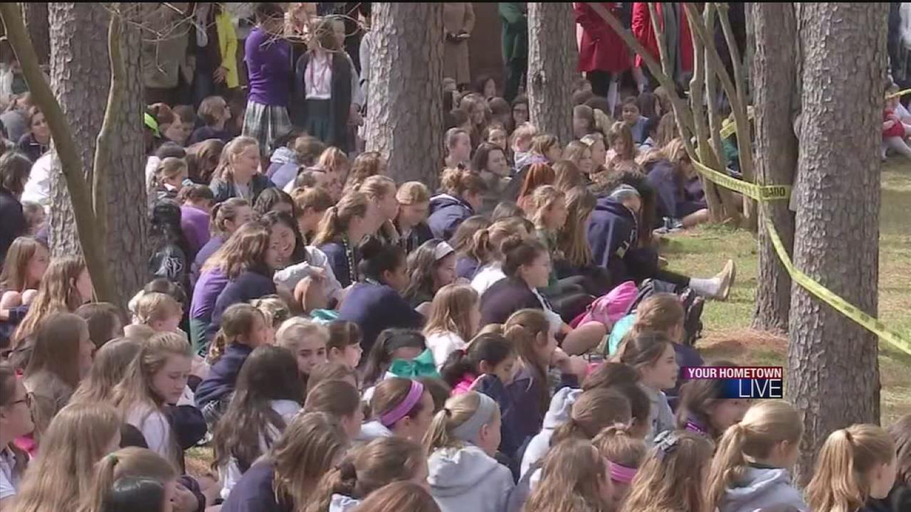 New tree planted at Duschesne Academy