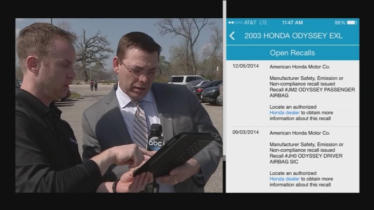 App shows vehicle recalls not fixed
