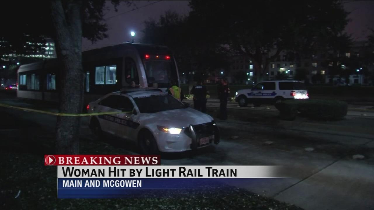 Police: Woman struck by METRO light rail in Midtown