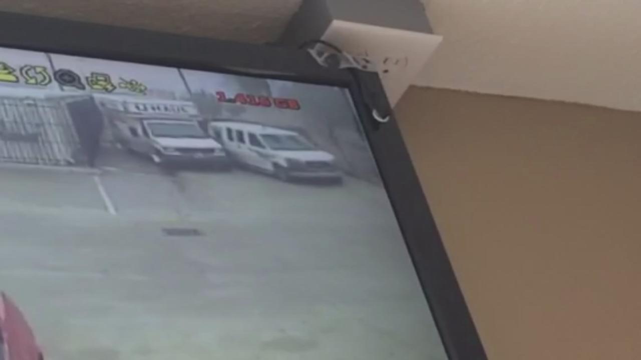 Surveillance video of crash
