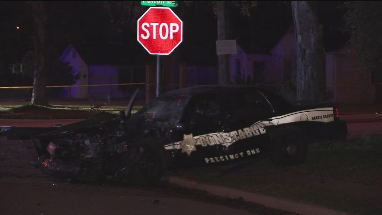 Pct. 1 deputy involved in deadly car crash in north Houston