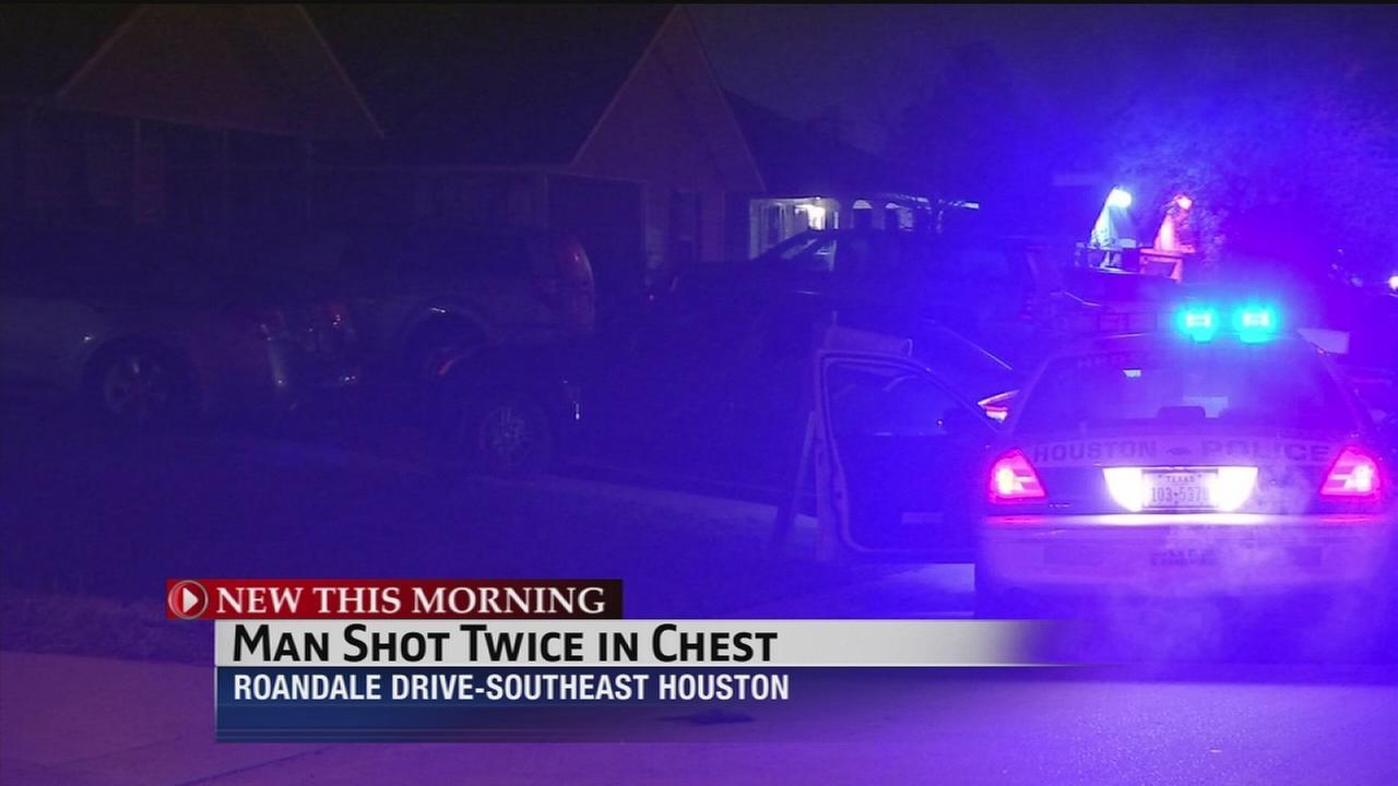 Man shot twice in chest