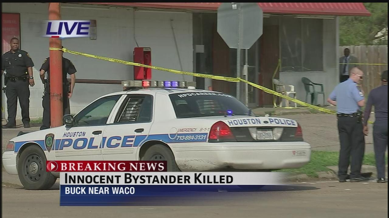Innocent man killed in gunfight outside washateria