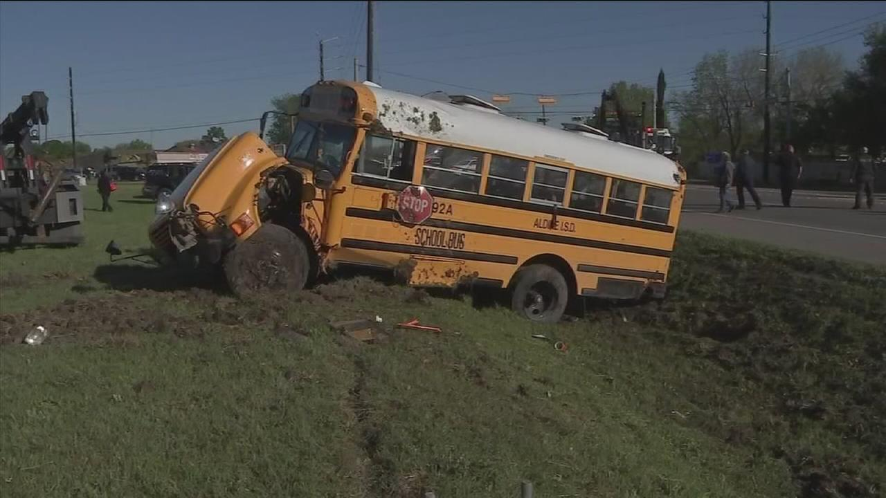 School bus overturned in NW Harris County