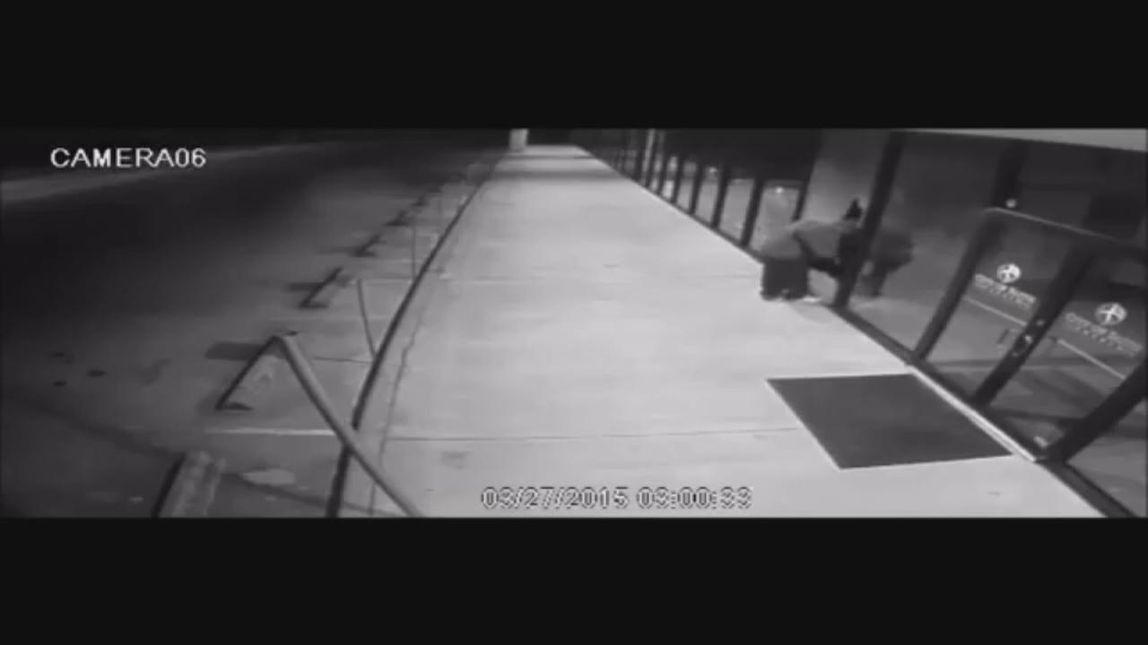 Suspect caught on camera breaking into church