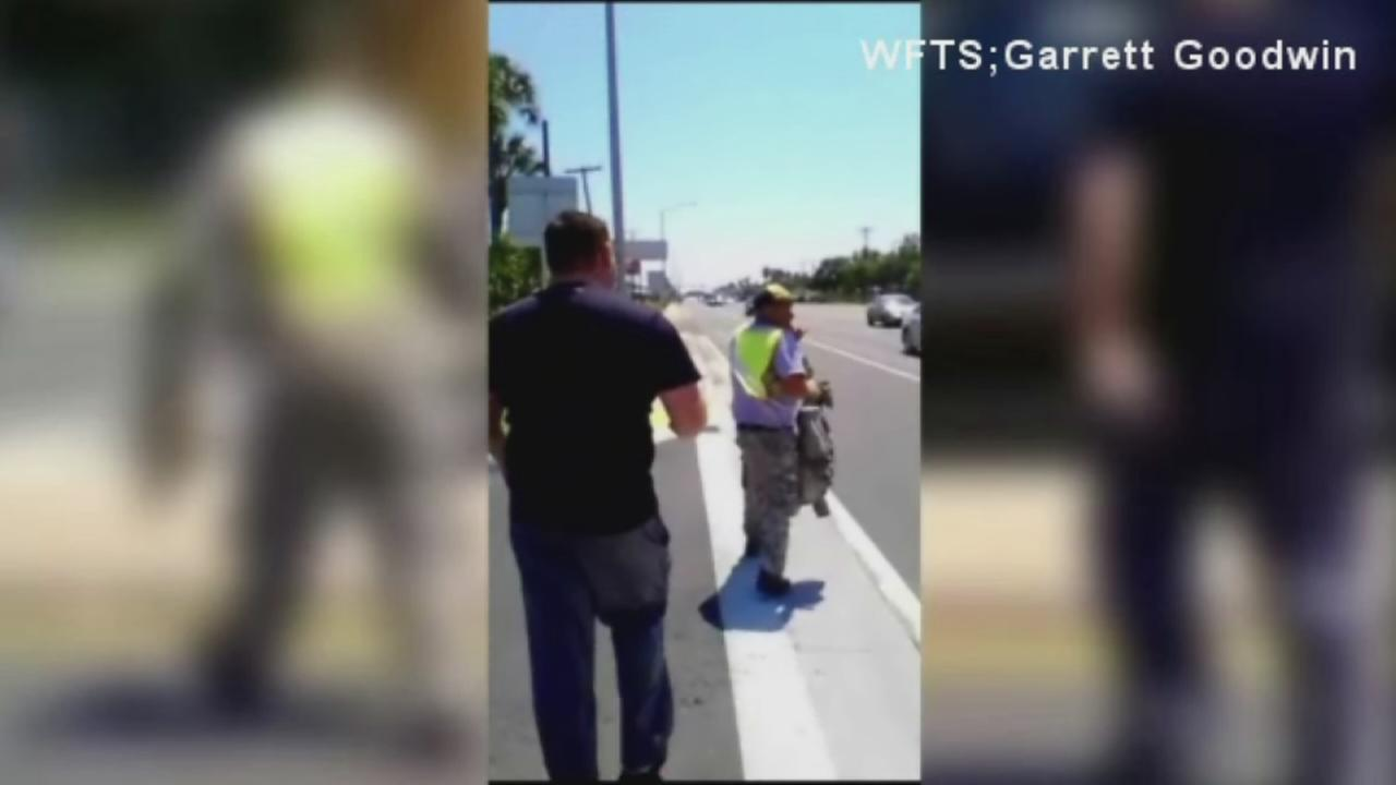 Veteran confronts panhandler dressed in military uniform