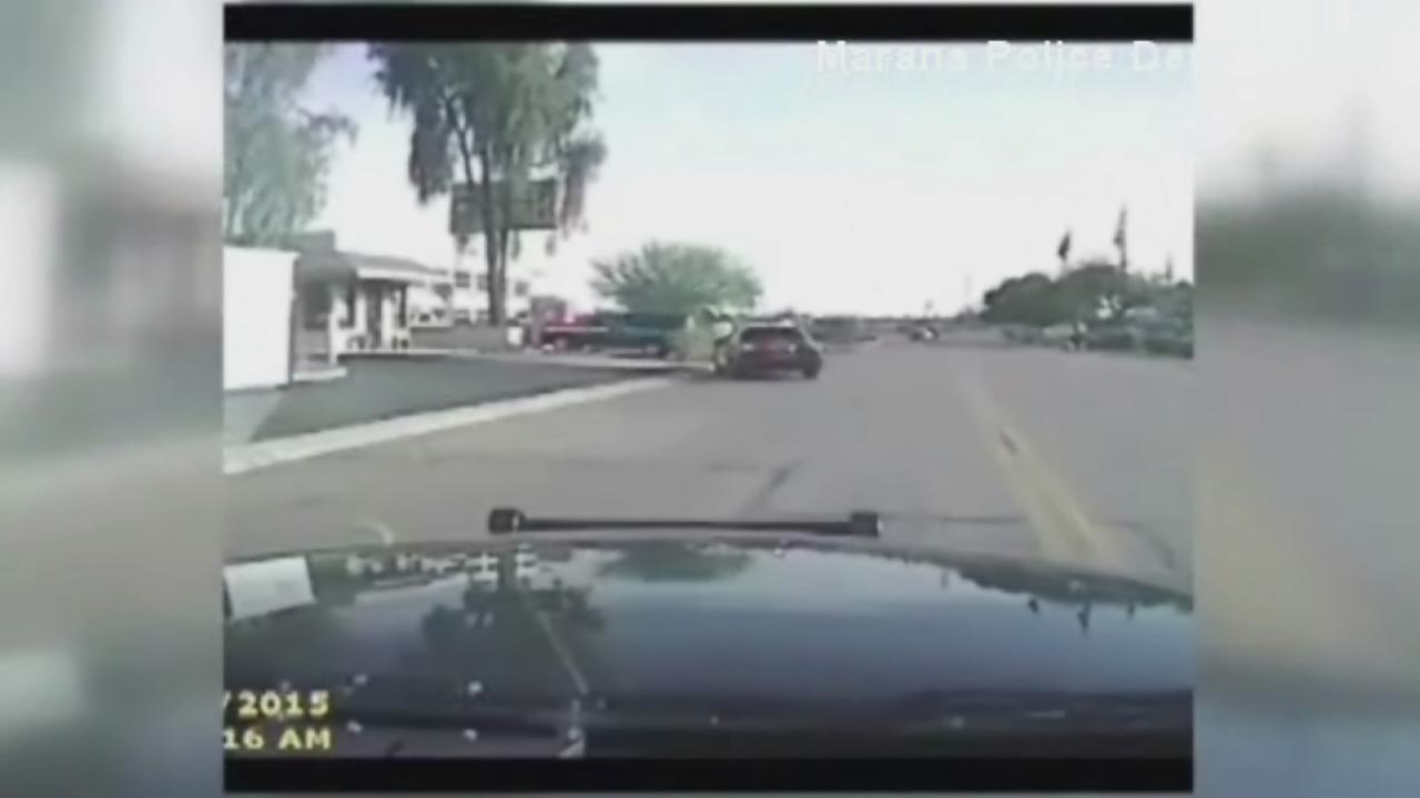 Dashcam video: Police cruiser rams suspect