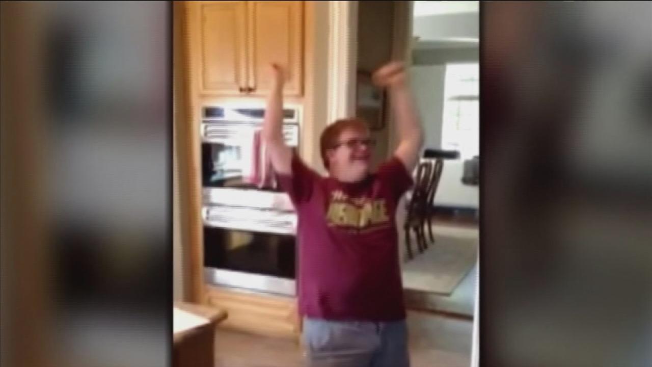 Special needs student celebrates job