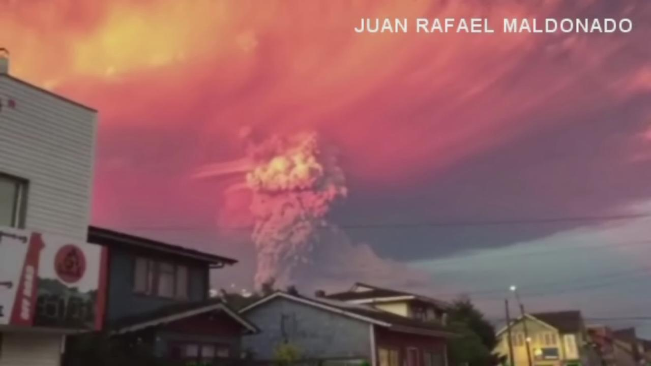 Volcano in Chile erupts