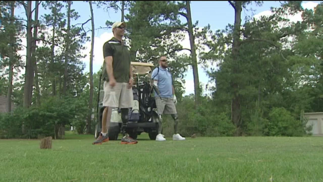 Charity golf event for wounded vets