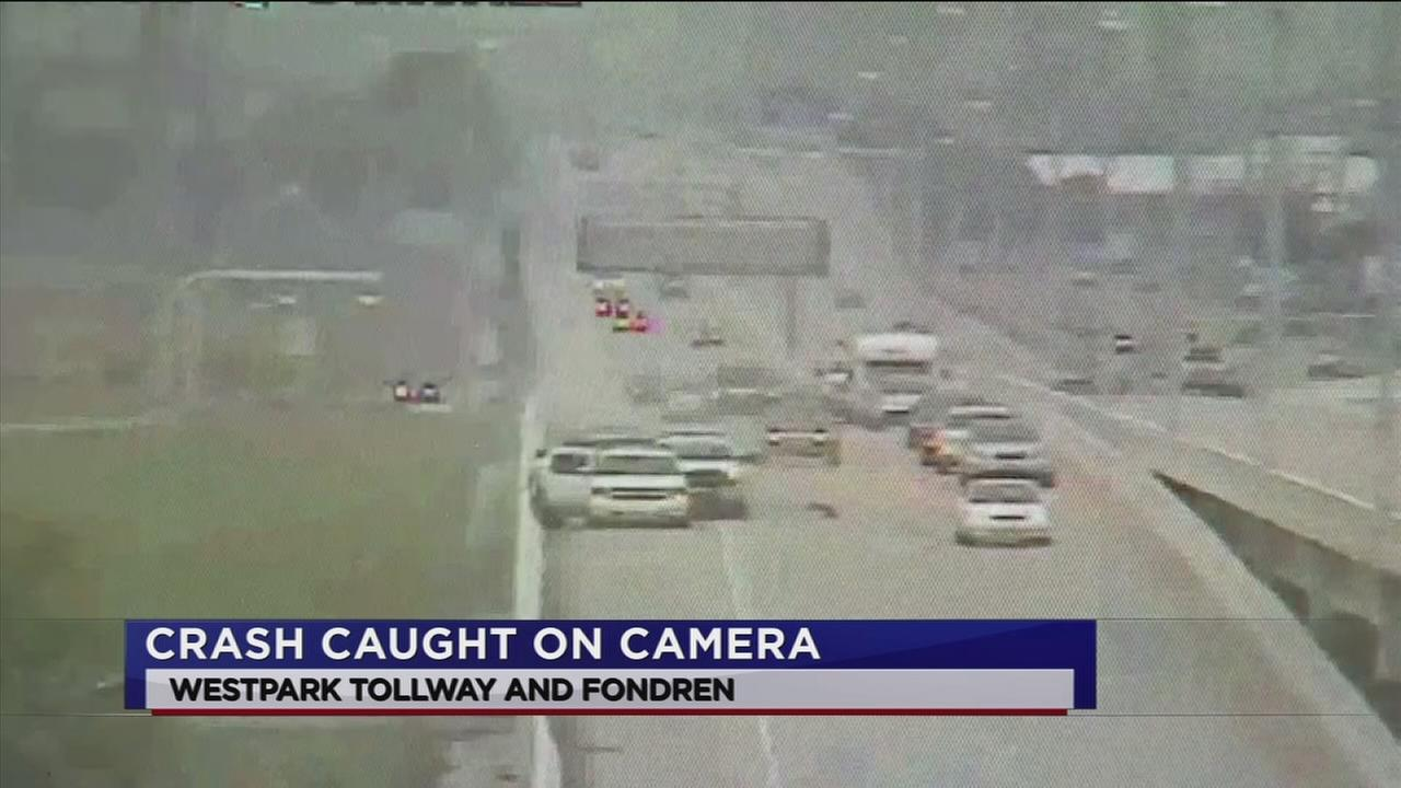 Video captures crash on Westpark Tollway
