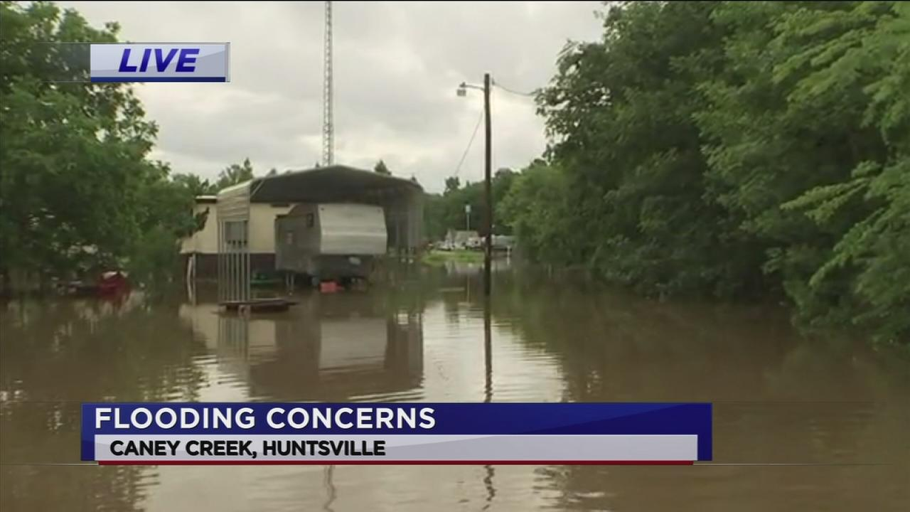 Caney Creek causes major flooding in Huntsville