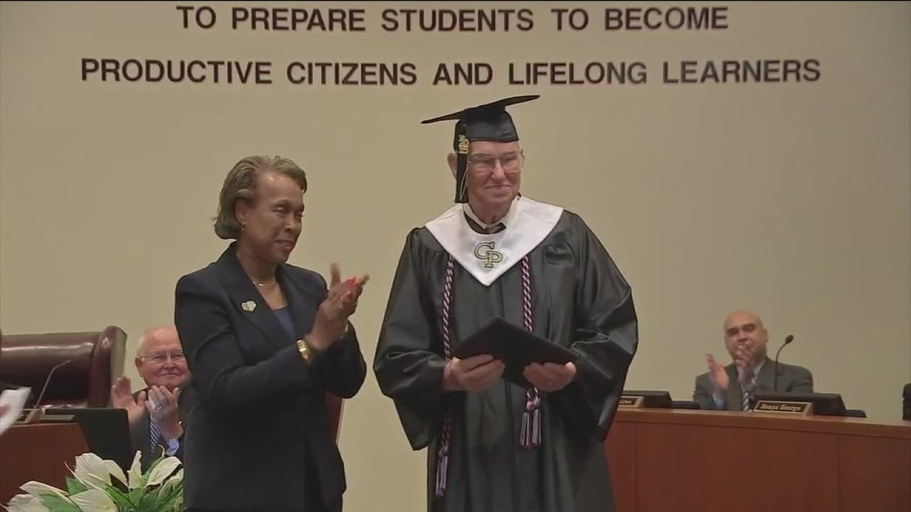 World War II vet gets high school diploma