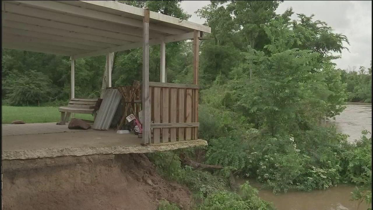 Montgomery County home at risk of falling into river