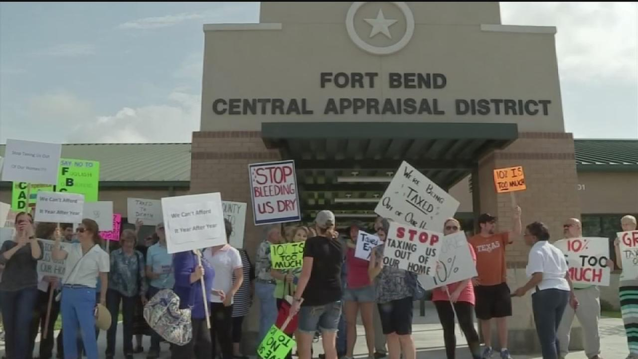 Angry Residents Protest Higher Property Taxes In Fort Bend County |  Abc13.com
